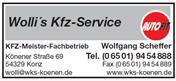 Logo von Wolli's KFZ Service