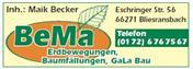 Logo von BeMa Erdbewegungen, Baumfällungen, GaLa Bau