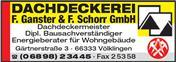 Logo von Dachdeckerei F. Ganster & F. Schorr GmbH