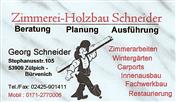Logo von Zimmerei-Holzbau Schneider