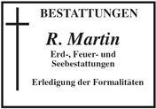 Logo von R. Martin Bestattungen