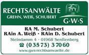 Logo von GWS - Rechtsanwälte Grehn, Weiß, Schubert