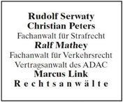 Logo von Rechtsanwälte Serwaty · Peters · Mathey · Link