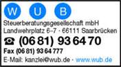 Logo von WUB Steuerberatungsges. mbH