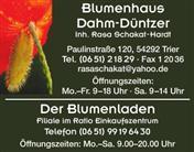 Logo von Blumenhaus Dahm-Düntzer