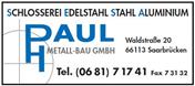 Logo von Paul Metallbau GmbH