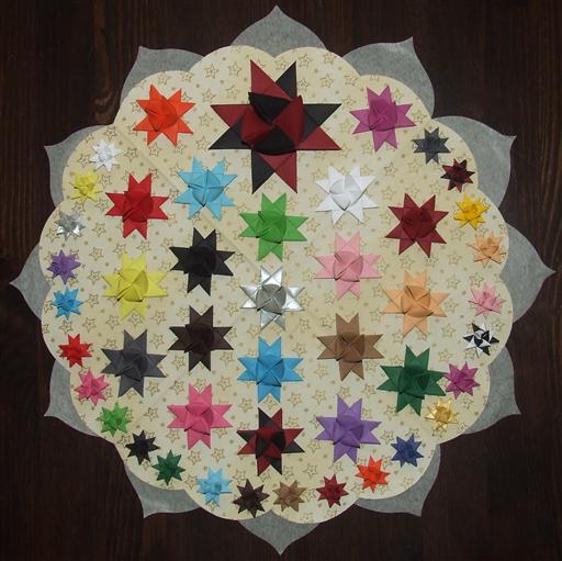 Fröbelstern-Geschenkaufkleber mit 12 Spitzen - Fröbelzauber