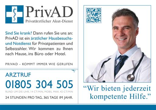 Firmengebäude Ärztlicher Notdienst PrivAD für Privatpatienten und Selbstzahler