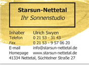 Logo von Sonnenstudio Starsun-Nettetal