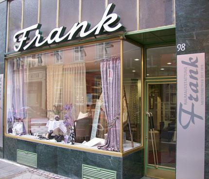 Firmengebäude Raumausstattung Frank