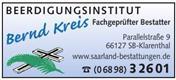 Logo von Beerdigungsinstitut Bernd Kreis