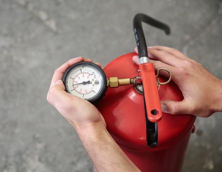 Wartung Feuerlöscher