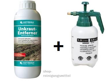 Unkrautentferner 250 ml + Druckspritze - Eisenwaren Reiner Sander & Spezialreinigungsmittel